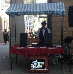 vintage music stall