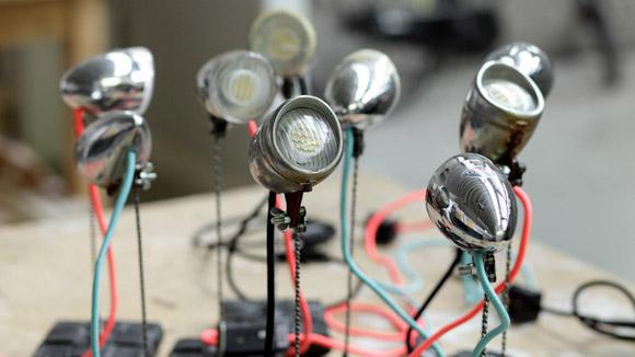 upcycled lights